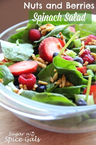 Nuts and Berries Spinach Salad