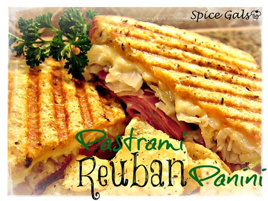Pastrami Reuben Panini - Sugar n' Spice Gals