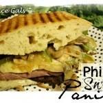 Philly Swiss Steak Paninis