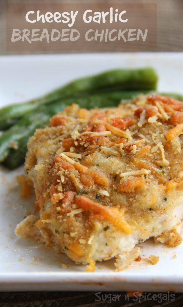 Cheesy Garlic Breaded Chicken - Sugar n' Spice Gals