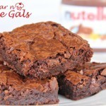 Gooey Nutella Brownies