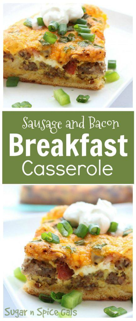 sausage-and-bacon-breakfast-casserole-collage