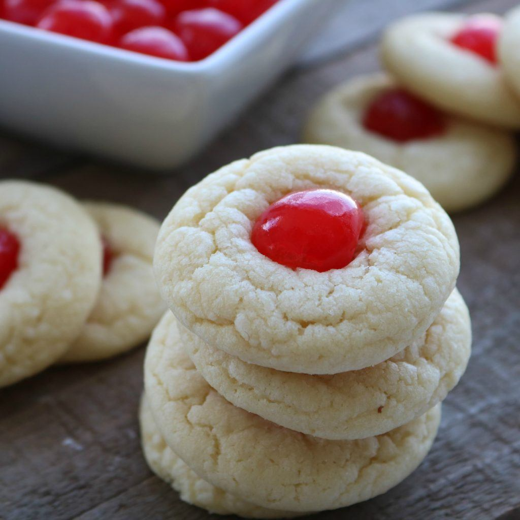 almond cherry cookies