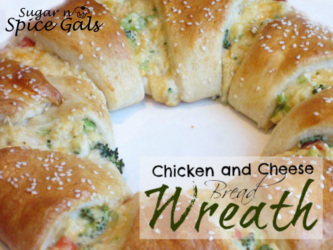 chicken and cheese crescent wreath