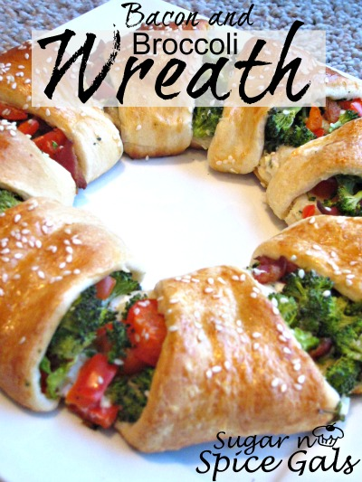 bacon and broccoli crescent wreath