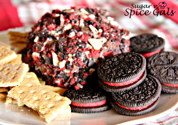 Peppermint cookie cheese ball