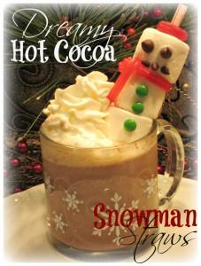 hot cocoa & snowman straws