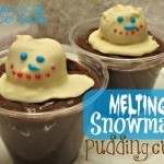 Melting Snowman Pudding