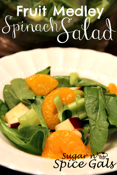 Fruit Medley Spinach Salad