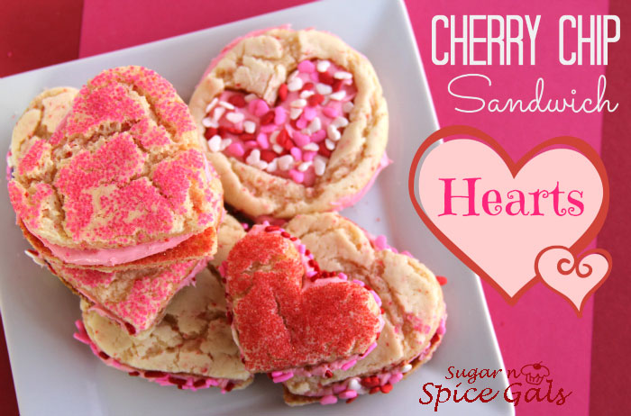 Cherry Chip Sandwich Hearts