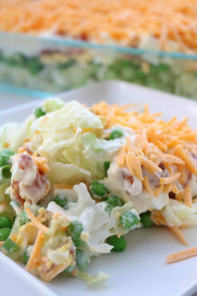 7 Layer Green Salad Recipe