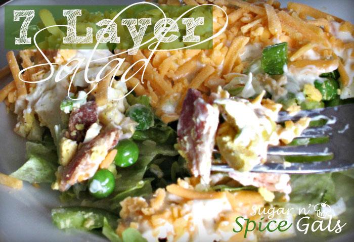 seven layer green salad recipe
