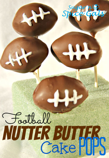 Football Nutter Butter Cake Pops