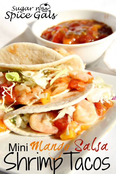 Mini Mango Salsa Shrimp Tacos recipe