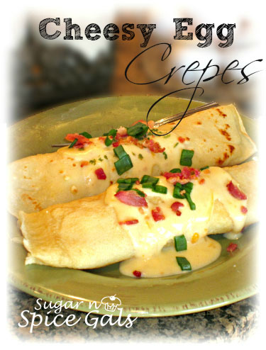 Cheesy Egg Crepes