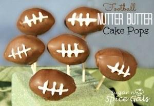 Football Nutter butter cake pops