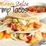 Mini Mango Salsa Shrimp Tacos