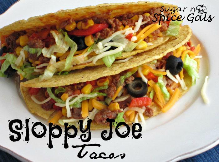 Sloppy Joe Tacos Sugar N Spice Gals