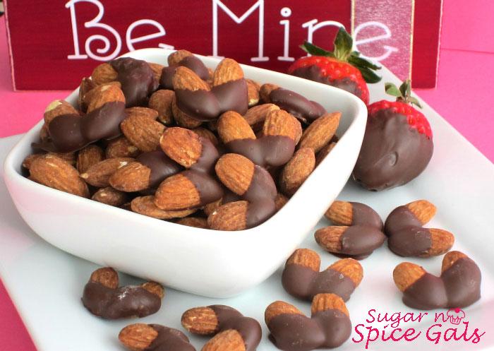 chocolate almond hearts