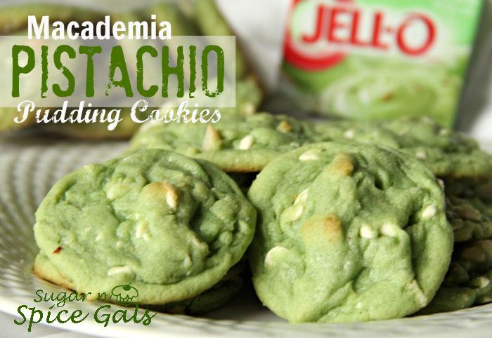 Macadamia Pistachio Pudding Cookies