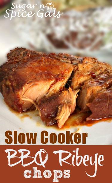 slow cooker bbq ribeye chops
