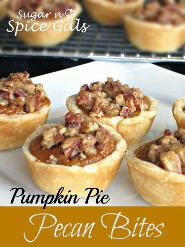 Pecan Pumpkin Pie Bites