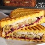Cranberry & Stuffing Turkey Panini Sandwich