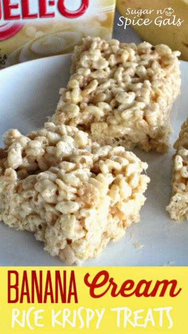 Banana Cream Rice Krispy Treats