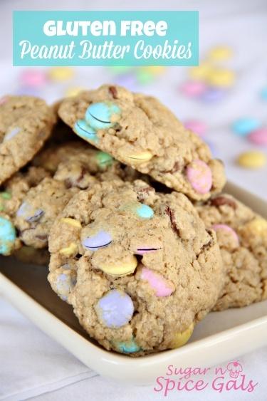 Peanut Butter Gluten Free Cookies - Sugar n' Spice Gals