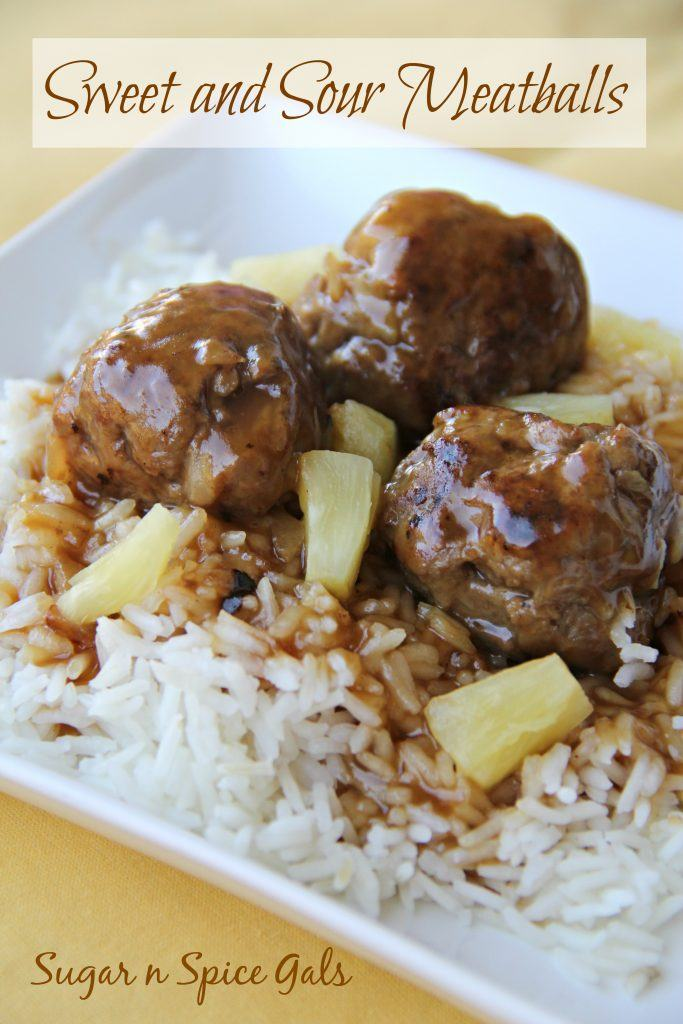 sweet and sour meatball