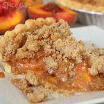 Fresh Peach Pie Crumble