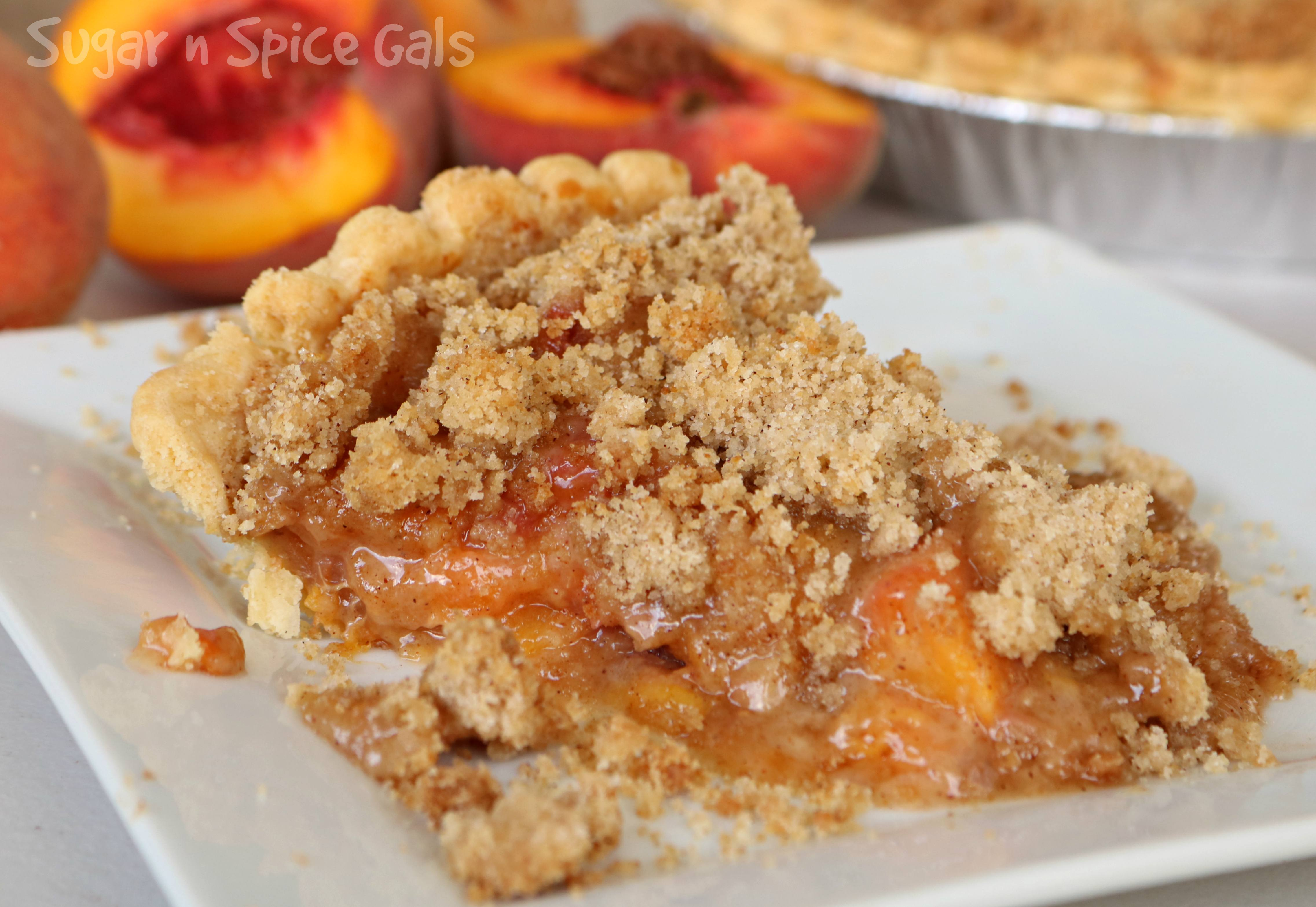 apple peach crumble pie