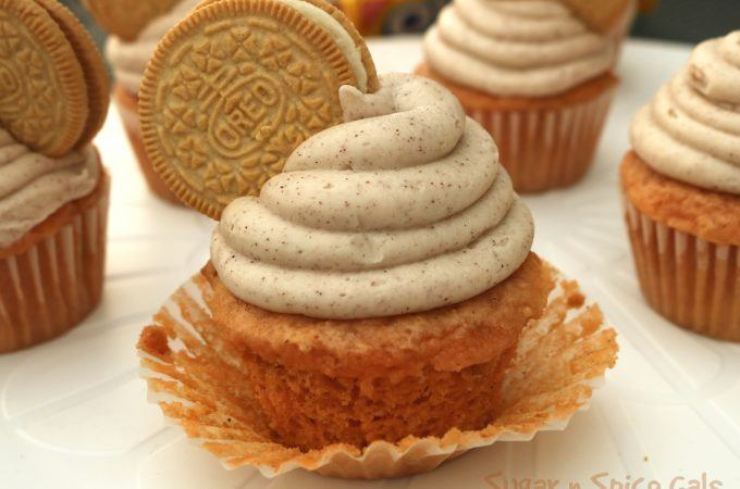 Pumpkin Oreo Cupcakes