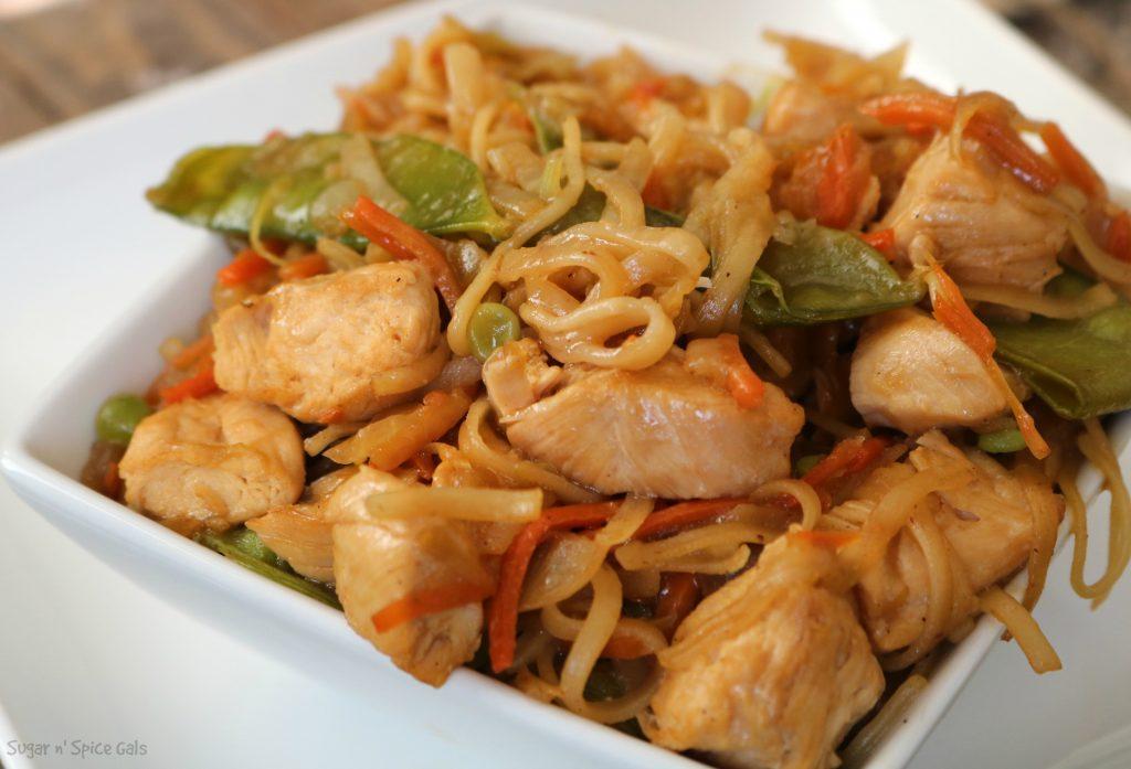 spicy chicken lo mein