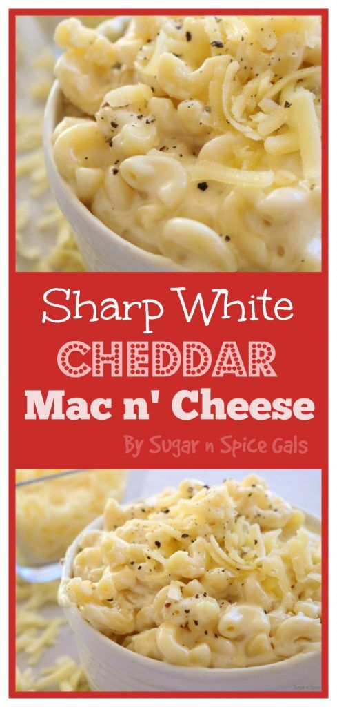 white cheddar mac n' cheese