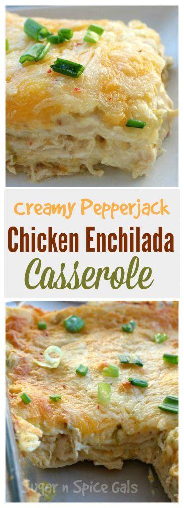 creamy pepper jack enchilada casserole