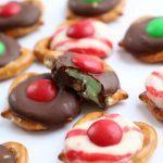 Christmas Chocolate Pretzel Bites