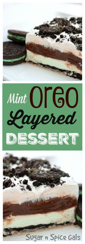 mint-oreo-layered-dessert-collage