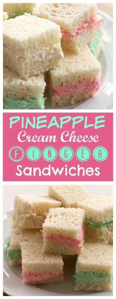 pineapple cream cheese finger sandwiches pinterest