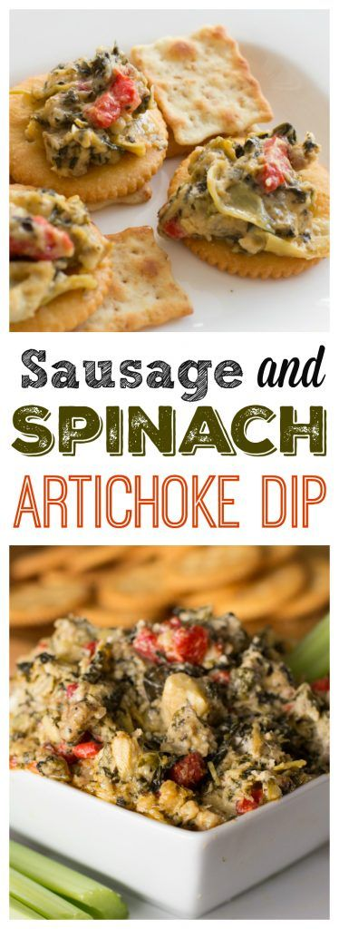 sausage-and-spinach-artichoke-dip