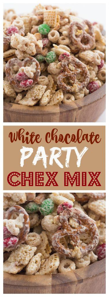 white chocolate party chex mix