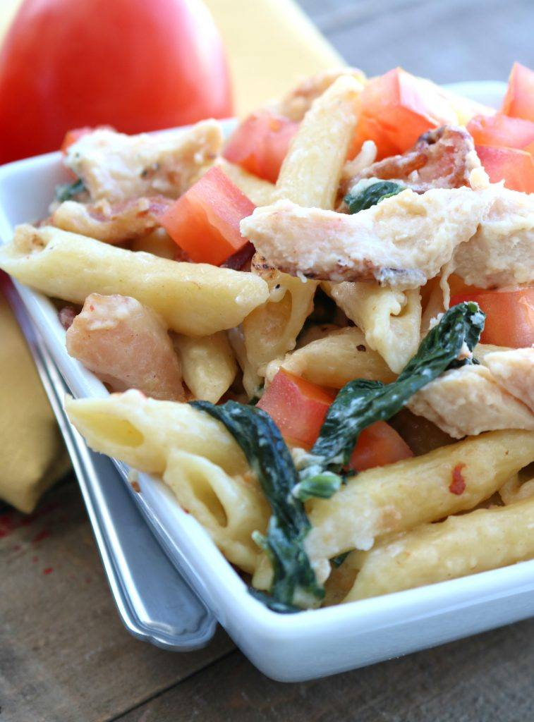 Chicken and Bacon Penne Pasta