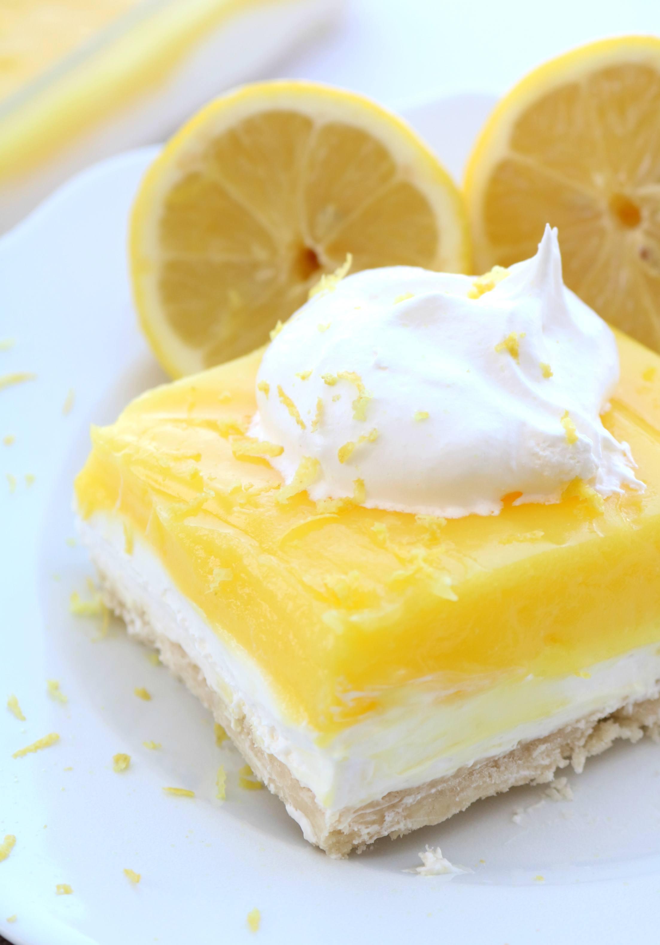 Layered Lemon Dessert - Sugar n' Spice Gals