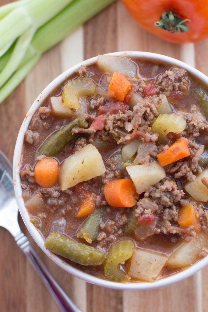 Slow Cooker Hamburger Soup Recipe