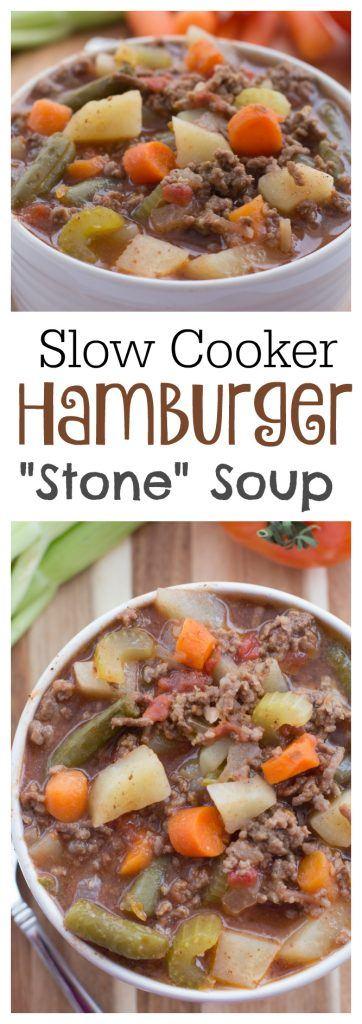 Slow Cooker Hamburger Soup Recipes