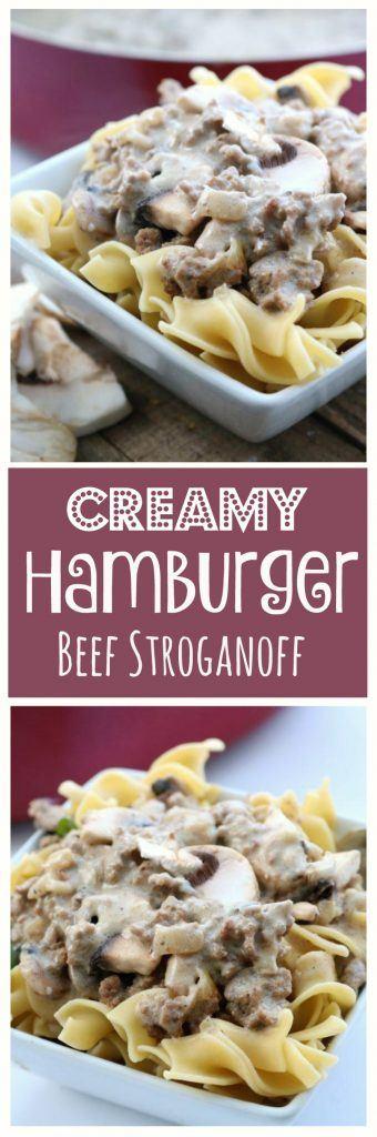 hamburger beef stroganoff pinterest
