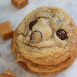 Salted Caramel Dark Chocolate Chip Cookies